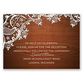 Lace Corners - Reception Card