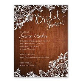 cheap bridal shower invitations lace corners bridal shower invitation