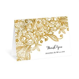 Gold Lace - Thank You Card