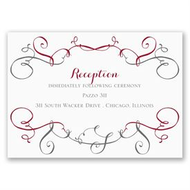 Swirling Beauty - Reception Card