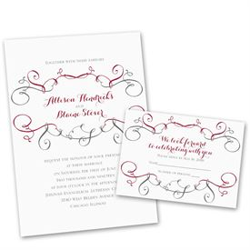 Superieur Wedding Invites Free Respond Cards: Swirling Beauty Invitation With Free  Response Postcard