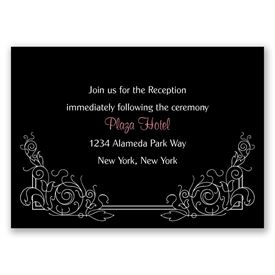 Modern Scrollwork - Reception Card