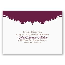 Sophisticated Frame - Reception Card