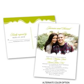 Sophisticated Frame - Invitation with Free Response Postcard
