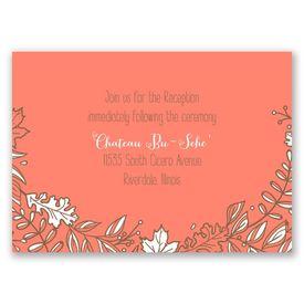 Leaf Menagerie - Reception Card