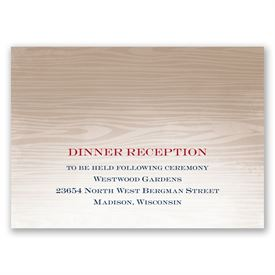 All Natural - Reception Card