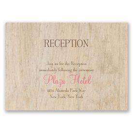 Woodgrain Beauty - Reception Card