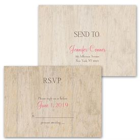 Woodgrain Beauty - Choose Your Design - Invitation with Free Response