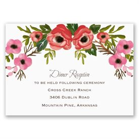 wedding reception cards blooming beauty reception card - Wedding Reception Invitations