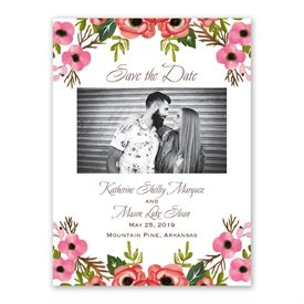 Blooming Beauty Save the Date Card