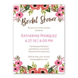 Bridal Shower Invitations Blooming Beauty Invitation