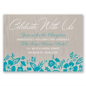 Modern Garden - Reception Card