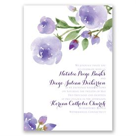 Within Reach - Lavender - Invitation with Free Response Postcard