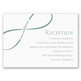 Now and Forever - Reception Card