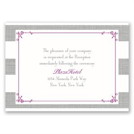 Bold Stripes - Reception Card