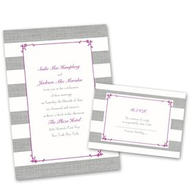Wedding Invites Free Respond Cards: Bold Stripes Invitation With Free  Response Postcard