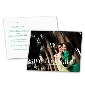 Simple Save The Dates: Captured Moment  Save the Date Postcard