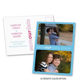 Bold Border - Save the Date Postcard