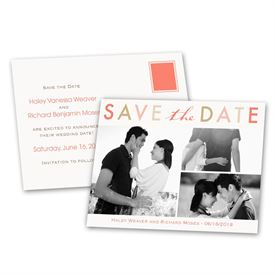 Simple Save The Dates: Bright and Beautiful  Save the Date Postcard