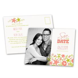 Beach Finds  Save the Date Postcard