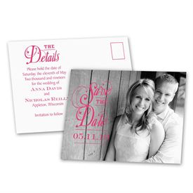 The Details - Save the Date Postcard