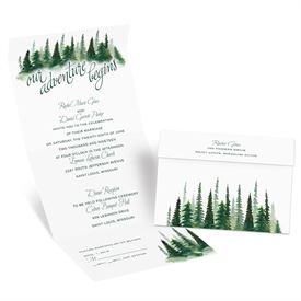 Watercolor Pines - Seal and Send Invitation
