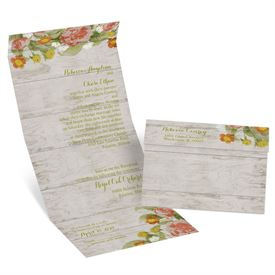 Shabby Chic Floral - Seal and Send Invitation