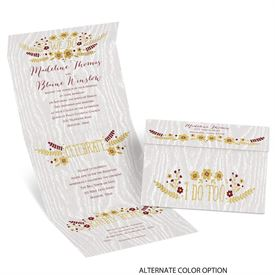 Floral Fancy - Seal and Send Invitation