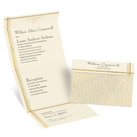 Gold Borders - Choose Your Design - Ecru Seal and Send Invitation