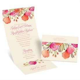 Pretty Posies Seal and Send Invitation