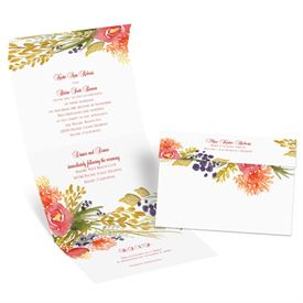 Fall Florals - Seal and Send Invitation