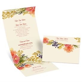 Fall Florals Seal and Send Invitation