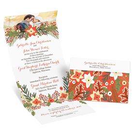 Winter Wedding Invitations: Winter Greens  Seal and Send Invitation