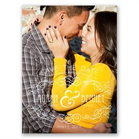 Hearts Awhirl  Save the Date Card