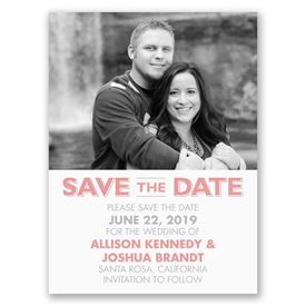 Clearly You - Save the Date Card