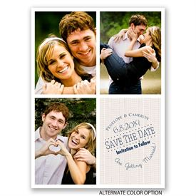 Window Frame - Save the Date Card