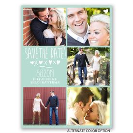 Love and Kisses - Save the Date Card
