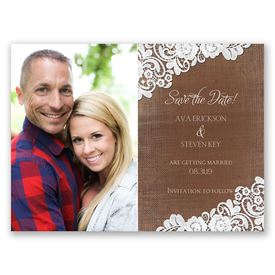 Graced with Lace - Save the Date Card