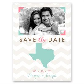 Destination Save The Dates: Well Stated  Save the Date Card