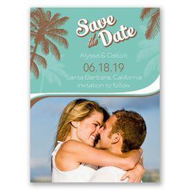 Destination Save The Dates: Retro Beach  Save the Date Card