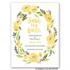 Floral Halo - Save the Date Card