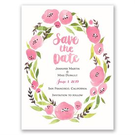 Floral Halo  Save the Date Card