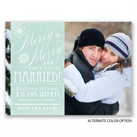 Merry Merry - Holiday Card Save the Date