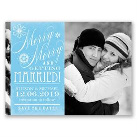 Christmas Save The Date Cards.Merry Merry Holiday Card Save The Date