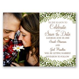 Christmas Save The Date Cards.Tis The Season Holiday Card Save The Date