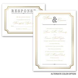 Gold Frame - All in One Invitation