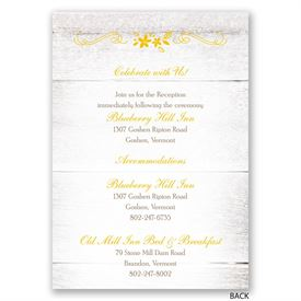 Country Floral - All in One Invitation