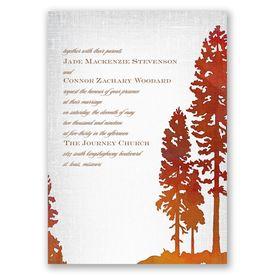 Lakeside Invitation with Free Respond Postcard
