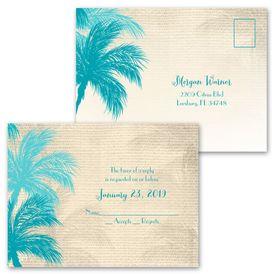 Island Beauty - Invitation with Free Respond Postcard