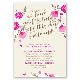 Floral Romance Invitation with Free Respond Postcard